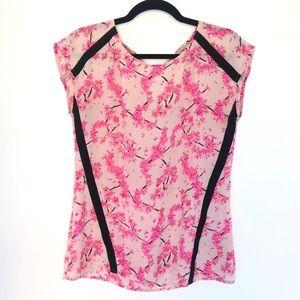 Banana Republic Cherry Blossom Blouse Hot Pink XS